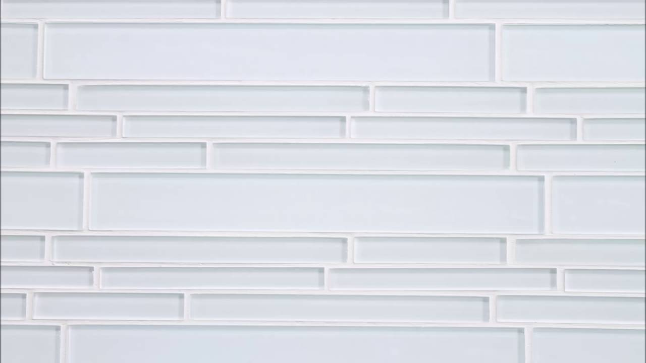 White Textured Subway Tile Backsplash Youtube