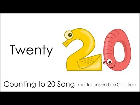 Counting Songs 1-20 for Children Numbers to Song Kids Kindergarten Toddlers Animal Number 1234