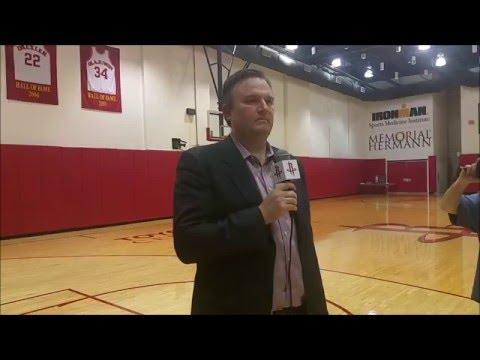 Daryl Morey Houston Rockets 2016 Post-Season Press Conference