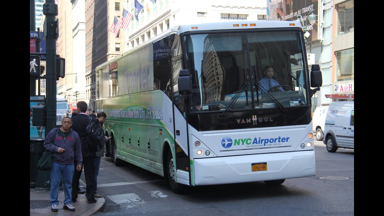 golden touch c2045l nyc airporter arriving at 33rd street and 7th