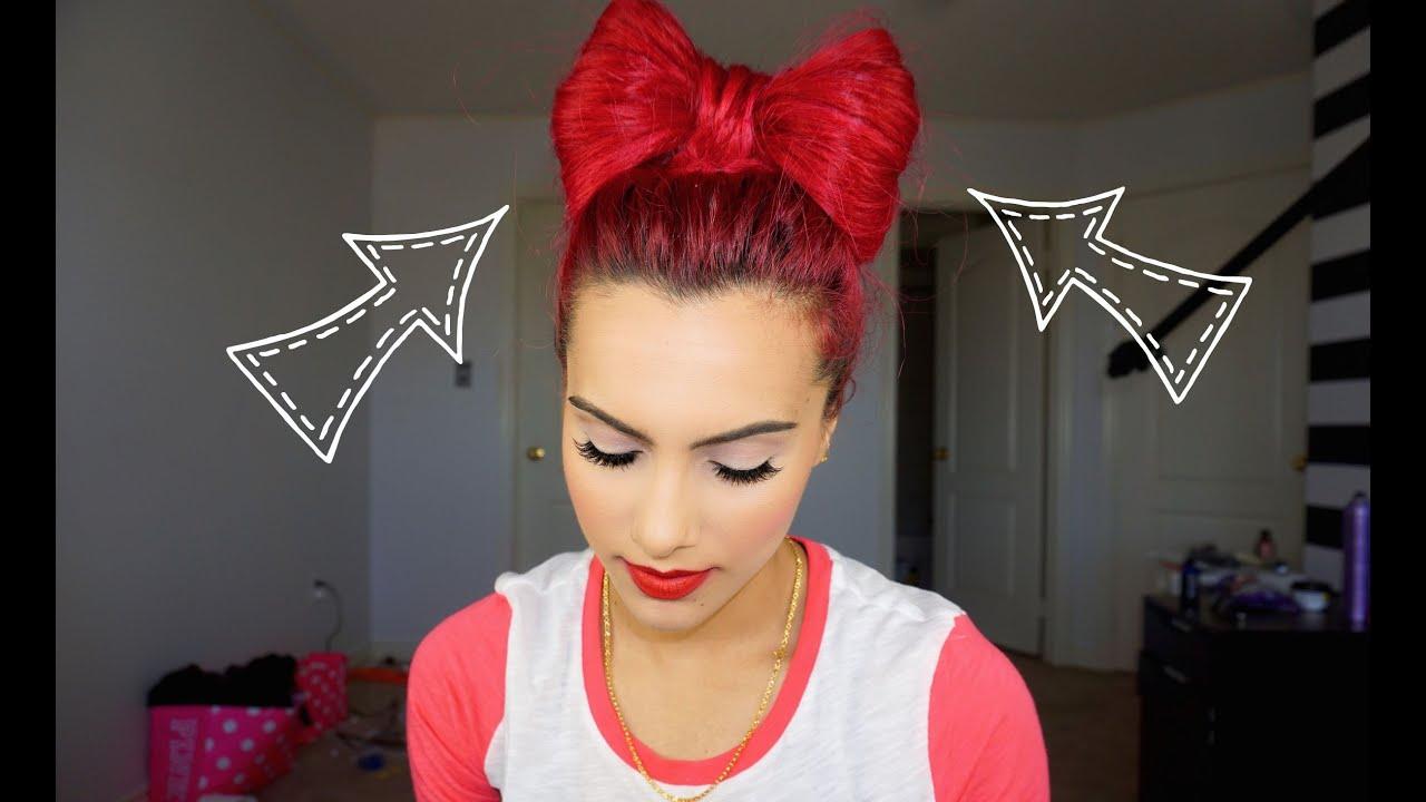Bow hair bun tutorial youtube urmus Choice Image