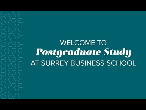 MSc Business Analytics, Postgraduate Degrees at Surrey Business School