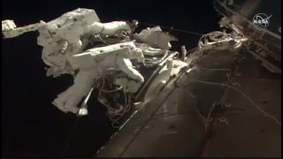 Watch live: NASA astronauts conduct spacewalk as they install docking adapter on ISS