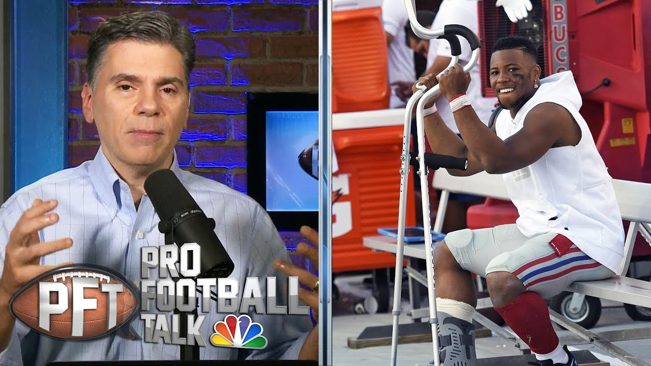 Should Giants be concerned about Saquon Barkley's injury? | Pro Football Talk NBC Sports
