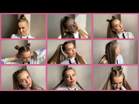 ЛЕГКИЕ И БЫСТРЫЕ ПРИЧЕСКИ НА ДЛИННЫЕ ВОЛОСЫ   fast hairstyles for long hair