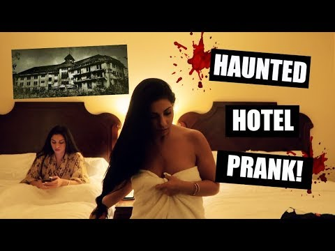 HAUNTED HOTEL ROOM PRANK!! *SHE FELL FOR IT*
