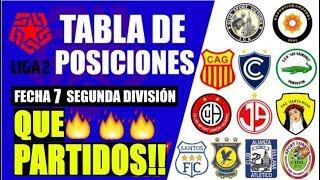 😍 RESUMEN GOLES y TABLA DE POSICIONES  ▶▶Fecha 7 ⚽ Liga 2 🏆 Torneo de Ascenso 2019