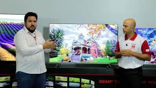 """Smart TV LED TCL P6US Ultra HD 4K HDR 50"""" 55"""" e 65"""""""