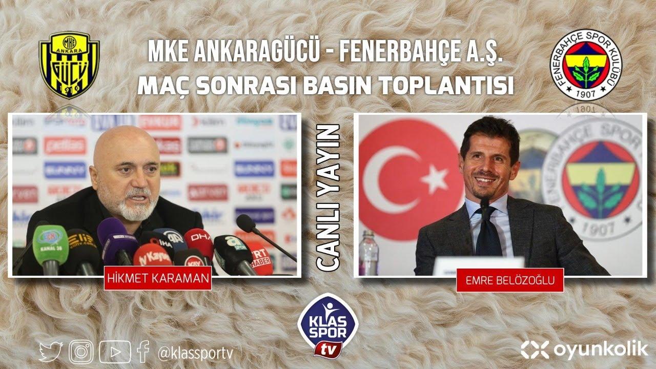 Ankaragücü - Fenerbahçe Basın Toplantısı ᴴᴰ (CANLI)