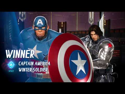 MARVEL VS. CAPCOM: INFINITE Arcade Mode Team Winter Solder and Captain America on Hard Difficulty