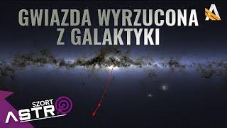 Czarna dziura wyrzuciła gwiazdę z galaktyki - AstroSzort