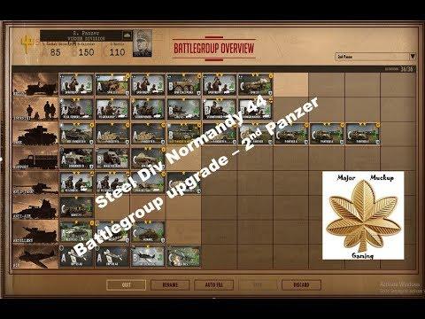 Steell Div 44 - Battlegroup Upgrade - 2nd Panzer (Weiner) Div. |