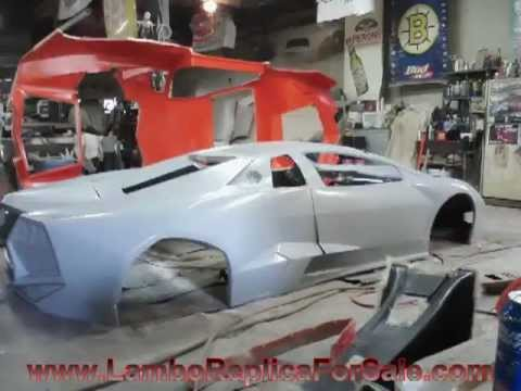 lamborghini reventon replica kit car project: mold is complete