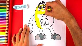 How to Draw M&M's - Yellow M&M