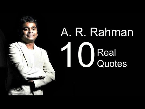 A. R. Rahman 10 Real Life Quotes on Success | Inspiring | Motivational Quotes