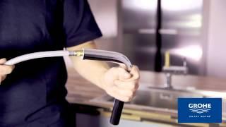 Installatie GROHE Minta Touch keukenmengkraan