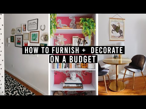 How To Furnish + Decorate A Home On A Millennial Budget | Where To Shop, Save, And Invest