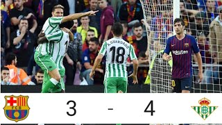 BARCELONA vs REAL BETIS 2-4 |ALL GOALS& HIGHLIGHTS| MESSI RETURN BARCA LOST