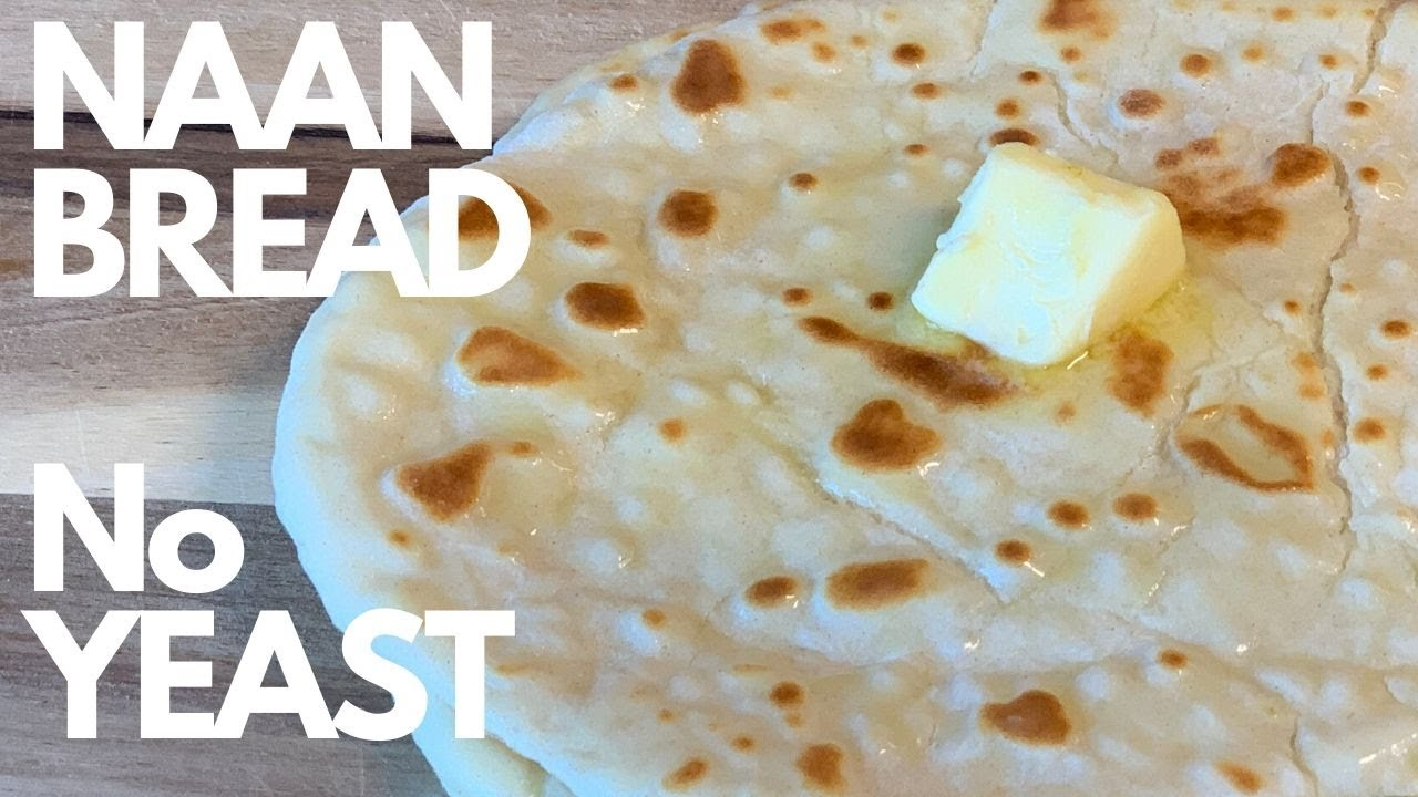 HOW to make the softest NAAN BREAD   NO YEAST   NO OVEN ...