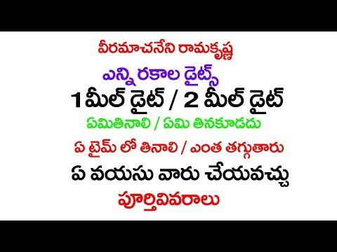 Veeramachaneni ramakrishna one  two meal diet complete details telugu park also download food videos from youtube rh omgyoutube