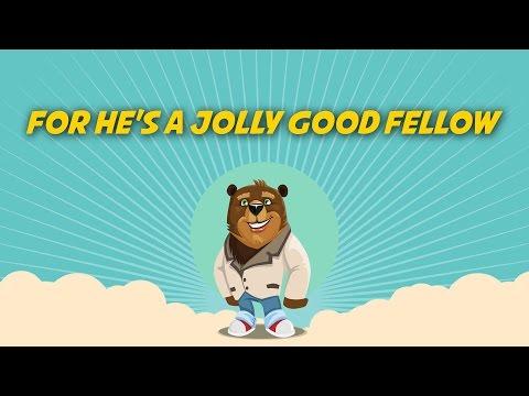 For He's a Jolly Good Fellow   Free Nursery Rhymes [Karaoke with Lyrics]