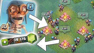 THIS IS TOO EASY!!! | GEM TO MAX LVL 10 BOMBERS!! | Clash Of Clans