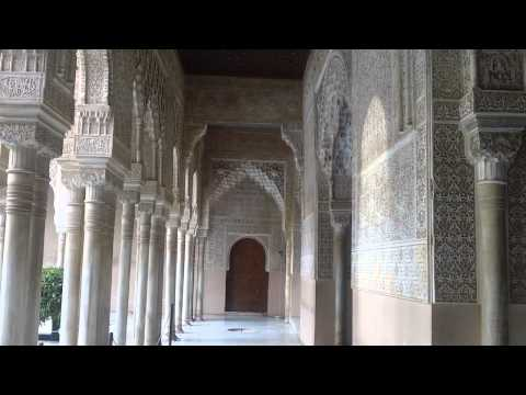 Court of the Lions Nasrid Palace Alhambra Granada Andalusia Spain