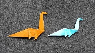 Hướng dẫn xếp giấy origami khủng long