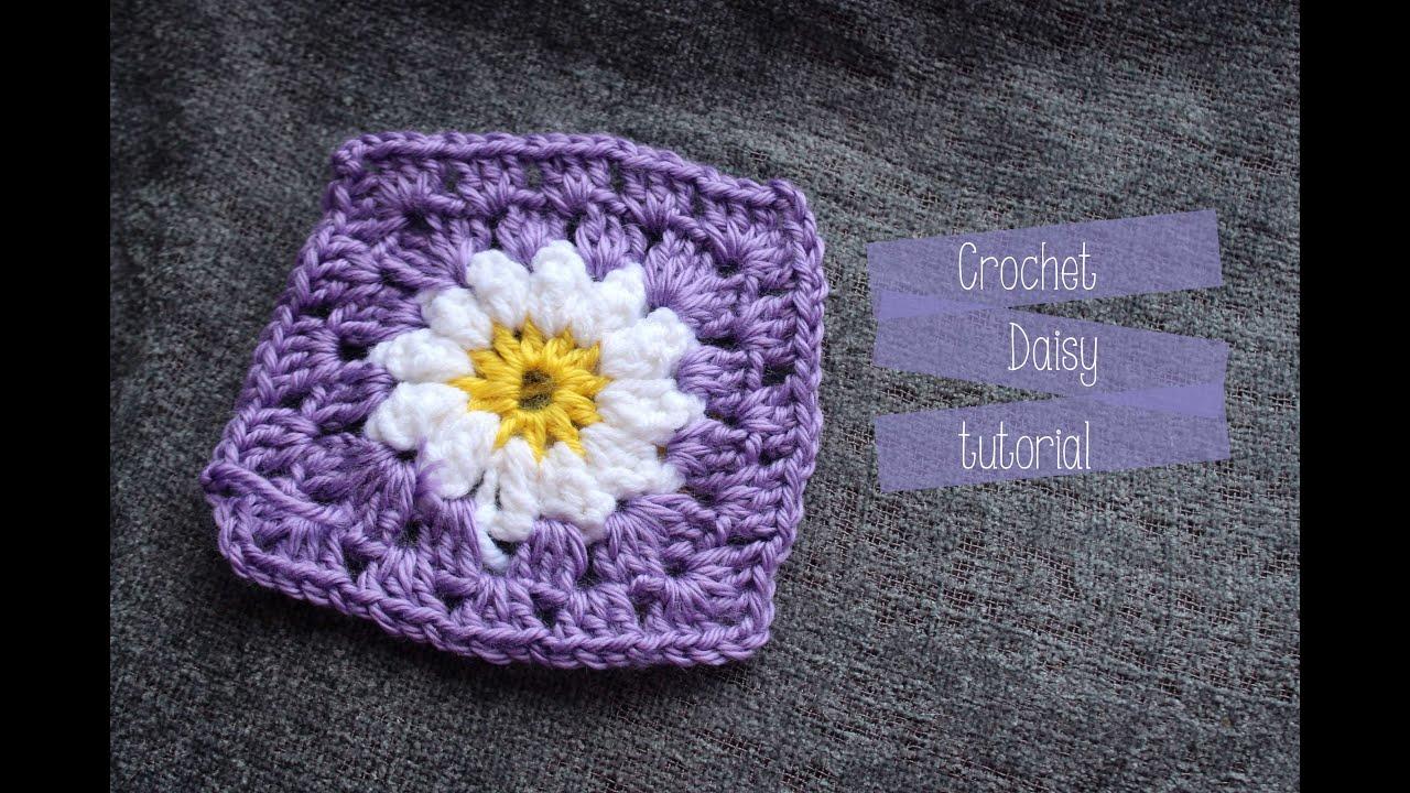 Daisy crochet square tutorial youtube izmirmasajfo