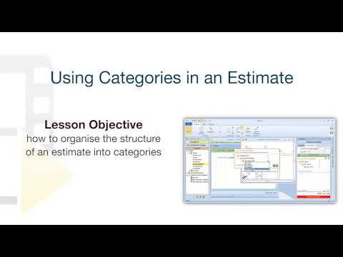 Edificius Tutorial - Categories in a construction estimate document - ACCA software