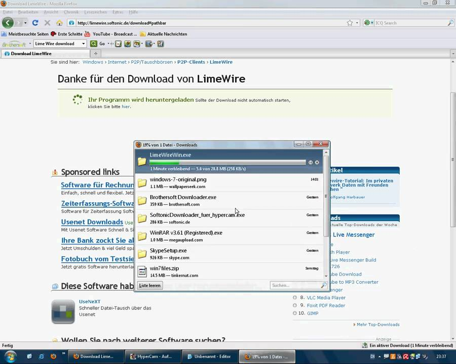 limewire deutsch