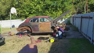 Welding rollers to a 1940 Caddillac. With ChuckE2009
