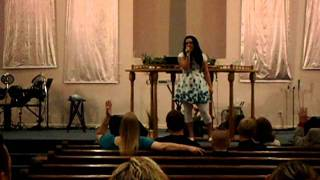 Rachel Robertson Singing Call On Jesus by Nicole C. Mullen