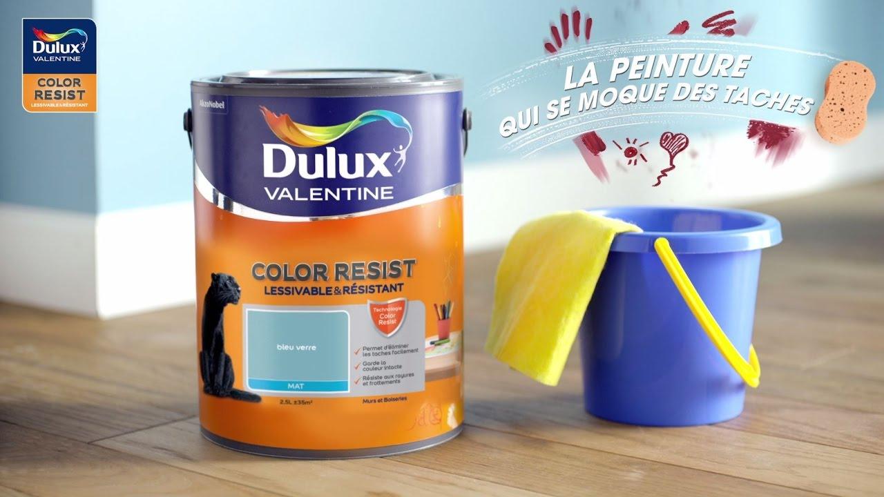 Peinture Blanche Dulux Valentine dulux valentine color resist - une peinture mate résistante et lessivable -  démonstration