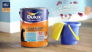 Dulux Valentine Color Resist - une peinture mate résistante et lessivable - démonstration