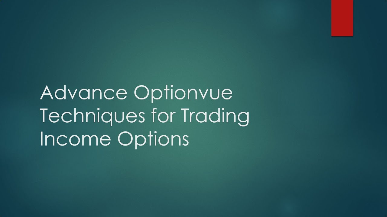 How to trading options for income