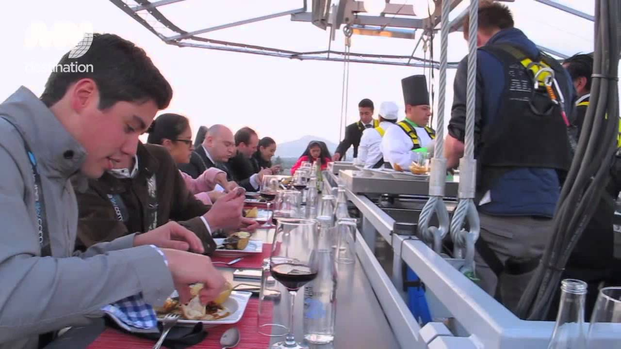 Dinner In The Sky Mexico YouTube - Dinner in the sky an unforgettable experience