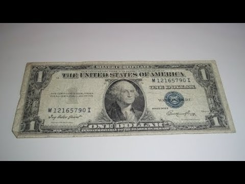 How Much Are My Blue Seal Dollar Bills Worth?