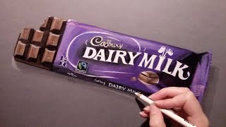 Drawing a Cadbury chocolate bar