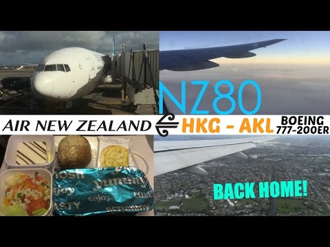 Air New Zealand NZ80 : Flying from Hong Kong to Auckland