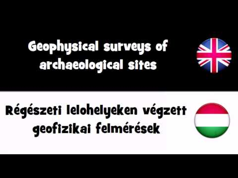 VOCABULARY IN 20 LANGUAGES = Geophysical surveys of archaeological sites