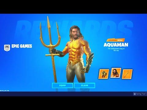 UNLOCKING Aquaman Skin And ITEMS In Fortnite! (SIMPLE)
