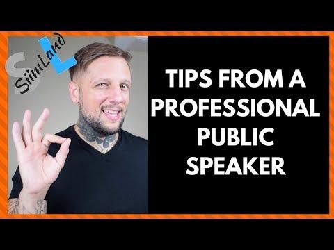 Motivational Speaker Gives Tips for Public Speaking and Presentation Skills