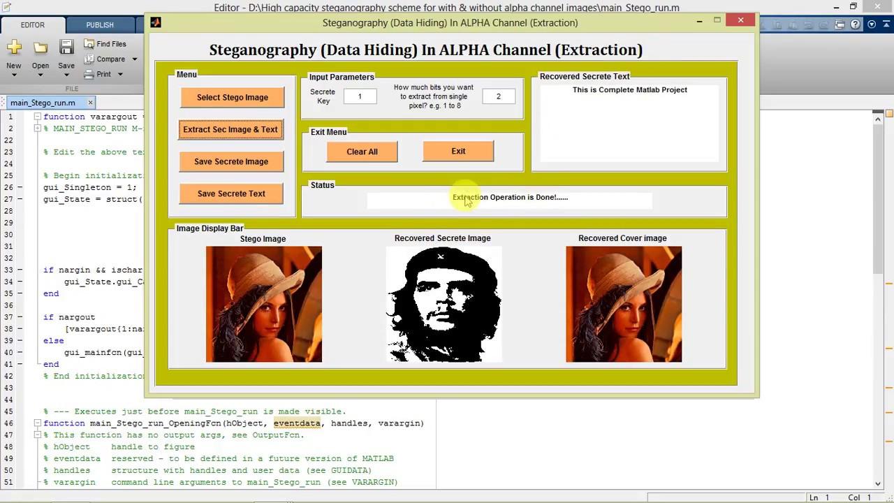 Video steganography source code in matlab