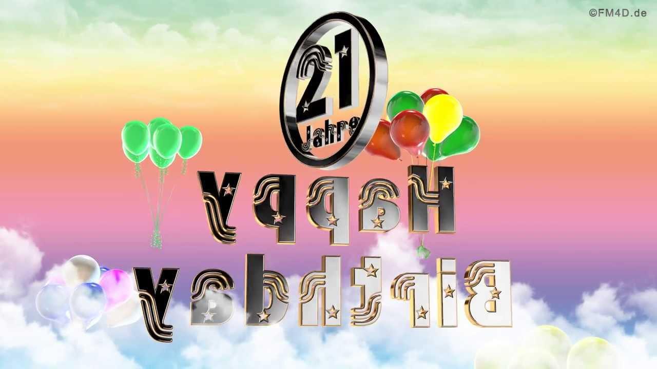 Zum 21 Geburtstag