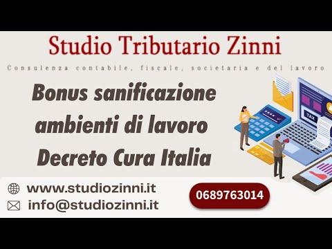 BONUS SANIFICAZIONE AMBIENTI DI LAVORO DECRETO CURA ITALIA (EMERGENZA CORONAVIRUS)
