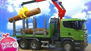 видео Большие машины , развивающие игры , игры для мальчиков , лесоруб , трактора ,машины
