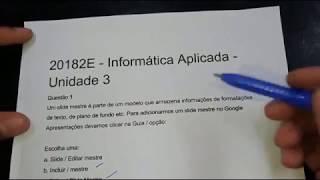 Informática Aplicada - Unidade 3