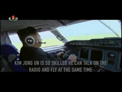 Kim Jong Un Pretends to Fly an Airplane
