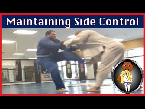 BJJ Roll No. 104 - Maintaining Side Control - w/Lamarr at Smiley Academy